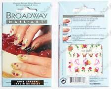 Broadway by Kiss Nails Bijou ongle sticker décals l'eau Nail Art JARDIN DE ROSES