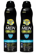 Banana Boat Sunscreen Men Triple Defense Broad Spectrum SPF 30 (Pack of 2)