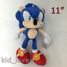 """Sonic the Hedgehog Plush Soft Toy Doll Teddy  Blue Hedgehog 11"""""""