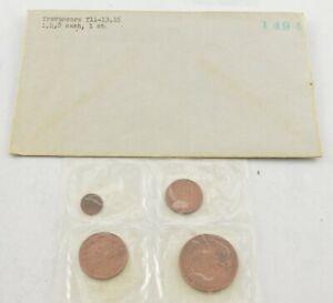 1960s Travancore Indian States 4 Coin Mint Set *730