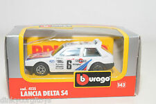 BBURAGO BURAGO 4135 LANCIA DELTA S4 RALLY MONTE CARLO MARTINI WHITE MINT BOXED.