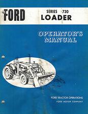 FORD VINTAGE 730  LOADER  OPERATOR'S  MANUAL