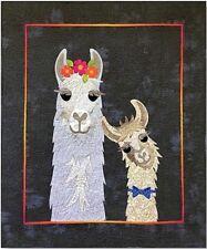 NEW APPLIQUE QUILT PATTERN  MAMA LLAMA LOVE by HISSYFITZ   29 x 34