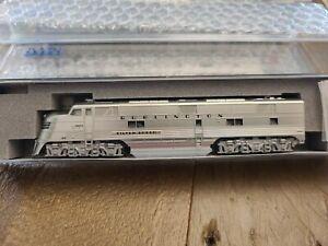 """Kato 176-5401 E5A CB&Q 9910A """"Silver Speed"""" NEW N Scale"""