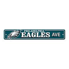 """New Philadelphia Eagles AVE Street Sign 24"""" x 4"""" Styrene Plastic Made in USA"""