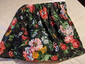RALPH LAUREN Cossette Isadora Black Floral Bed Skirt New Twin