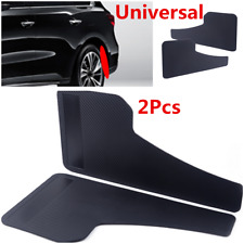Black 2Pcs ABS Car Trucks SUV Front & Rear Mud Flap Splash Guard Protector Kit