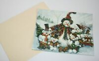 13 Snow Bears Christmas Cards Old Glory Scotty Snowman USA Old Fashioned Holiday