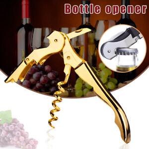 Stainless Steel Waiters Friend Corkscrew Wine Key Bottle Opener Double Hinge Bar