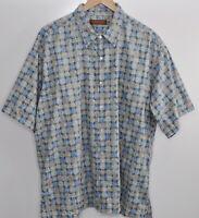 Tori Richard Hawaiian Shirt Size 2XL Men's Camp Cotton Lawn Aloha Blue