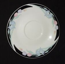 "Caravel China by Excel with Pastel Tulips - Saucer - 6"" Diameter"
