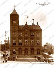 Montgomery, Alabama Courthouse 1885 8x10 Sepia Photo FREE SHIPPING!