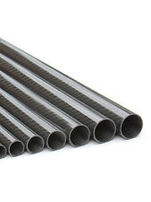 Carbon Fiber Tube From 5mm up to 20mm(Roll wrapped-Glossy 3K woven finish)