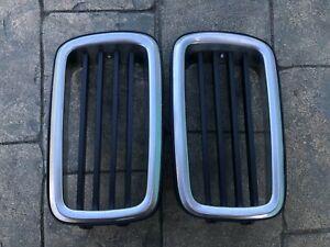 BMW E24 Center Kidney Grill Grille Set 635CSI 633CSI L6 M6 1843527 / 1843528