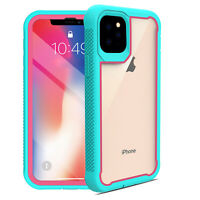 For iPhone 11 Pro Max 2019 Dual Layer Shockproof Armor Case Hybrid Back Cover