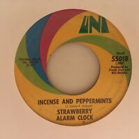 STRAWBERRY  ALARM  CLOCK      45  SINGLE  ,    INCENSE  AND PEPPERMINTS