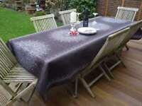Tischdecke Provence 150x240 cm dunkelgrau aus Frankreich, pflegeleicht bügelfrei