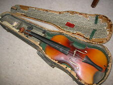 "Nicely flamed old 4/4 Violin violon  ""Josef B. Herclik"""