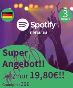Spotify Premium für 3 Monate - Gutscheinkarte