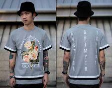 GRIMYTH T-Shirt floral flower hiphop bboy rapper skate party street wear M