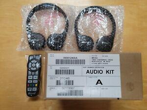 New OEM Chrysler Dodge VES UConnect Headphones Audio Kit w/ Remote - 05091246AA