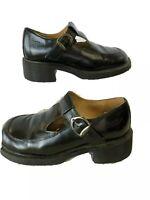 Vintage Dr. Doc Martens Mary Jane T Bar Black UK 6 US 8 Made In England