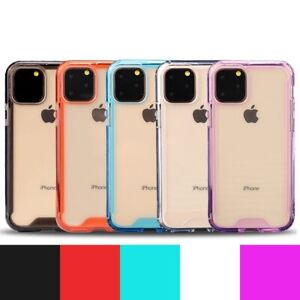 For iPhone 11 Pro Max Acrylic TPU Bumper Cover Shockproof Transparent Back Case