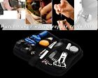 13 piece Watch Repair Tool Kit Zip Case Battery Opener Link Remover Screwdrivers