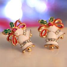Lady Ear Stud Lady's Fashion Jewelry Alloy Christmas Bell Shape Stud Earring