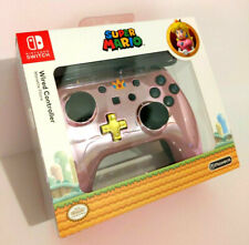 Power A Wired Controller Super Mario Princess Peach Pink Metallic! Brand New!
