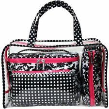 Modella Black & White Baroque Weekender Travel Bag Set
