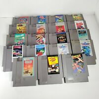 TESTED - LOT (19) NES Games - Nintendo Entertainment System - Top Gun, etc.