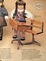 "PLEASANT COMPANY American Girl 1990's MOLLY MCINTYRE 18"" Doll SCHOOL DESK"