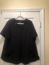 Cherokee Infinity Size 3Xl Black Women'S Scrub Top