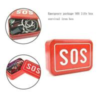SOS Help Outdoor Sport Camping Hiking Survival Emergency Gear Tools Box Kit U2O9