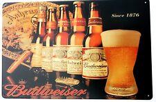 Budweiser Retro Metal Lata Letreros Vintage Café Bar Pub Garaje