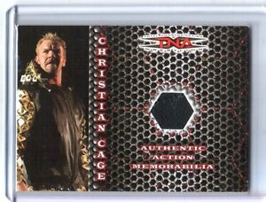 TNA Christian 2008 Impact Exclusive Rainbow Event Used Shirt Relic Card SN 21/25