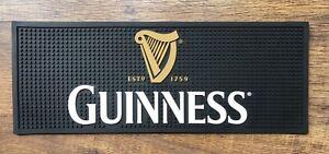 Guinness Black Rubber Bar Runner Pub Beer Mat Man Cave Ideas Home Bar Sign Gift