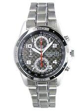 SEIKO Chronograph SND519 SND519P1 Men Checker 100m Stainless Steel Watch