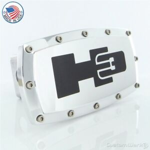 Hummer H3 Logo Billet Tow Hitch Cover (Chrome)