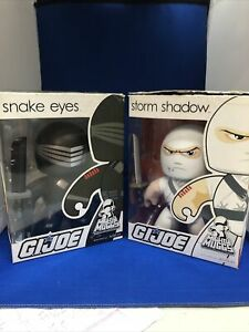 G.I. Joe Mighty Muggs Action Figure Lot of 2. Snake Eyes And Storm Shadow.