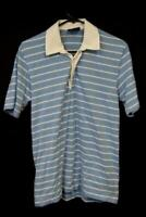 Vintage 90s Canterbury of New Zealand Men's Striped Shirt Size Large Blue