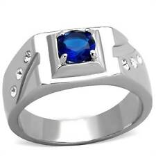 Simulated Signet Oval Stone Costume Rings