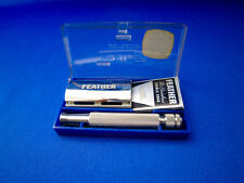 FEATHER HI-RAZOR PORTABLE  No 200-1 Safety Razor 1970's Made In Japan  Mint #1