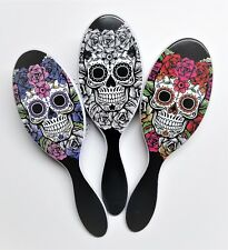The Wet Brush Pro Detangle Hair Brush Sugar Skull Trio- Red, Purple & White Rose