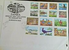 1975 ZAMBIA FDC - 3rd Definitive Issue - Official First Day Cover with Stamps