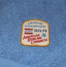 League Champion ABC 1972-73 Patch