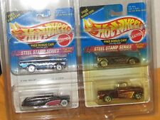 Hot Wheels STEEL STAMP SERIES in protecto passion,57 chevy, 56 flashside, zender