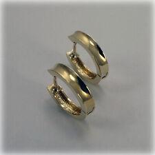 9ct Gold Concave Hoop Earrings