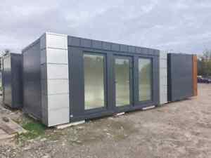 Mobiler Kaufstelle Büro Bürocontainer Modul Kiosk Shop Office Mobil Markt 6x3m